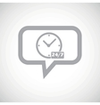 Overnight daily grey message icon vector image