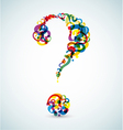 abstract question mark vector image