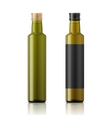 Olive oil bottle template with screw cap vector image