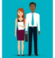 Business people and entrepreneur vector image