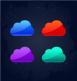 colourful cloud computing concept vector image