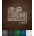 book and the tablet icon vector image