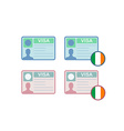 Icons of Visa to Ireland vector image