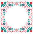 mexican folk greeting card wedding vector image