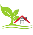 Real estate house with tree vector image