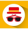 travel tourist hat concept sunglasses accesorie vector image