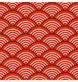 White Red Traditional Wave Japanese Chinese vector image