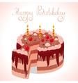happy cake vector image