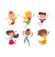 Happy children in different positions set vector image
