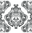 floral pattern in Indian style vector image