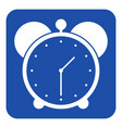 blue white information sign - alarm clock icon vector image