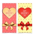 Saint Valentine Day banners vector image vector image