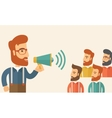 Group discussion vector image