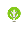 green tree abstract icon logo vector image