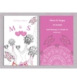 Set of wedding invitations and announcements vector image