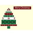 Holiday box Christmas tree new year vector image