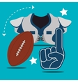 American football game sport vector image