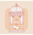 Design element for wedding greeting card vector image