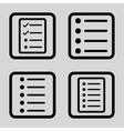 List Items Flat Squared Icon vector image