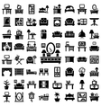 big furniture icons set vector image