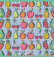 delicious and fresh tropical fruits background vector image