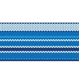 Fabric stitch seamless pattern vector image