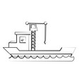 freigther ship boat vector image