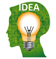 Idea mind bulb vector image