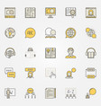 learn language colorful icons vector image