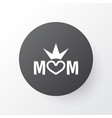 queen icon symbol premium quality isolated mom vector image