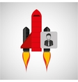 red rocket concept business character vector image