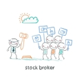 stock brokers buy stocks vector image