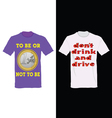 t-shirt in two color with one euro and message for vector image