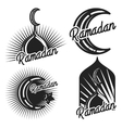 Vintage ramadan emblems vector image