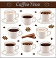 Set with different coffee cups vector image