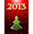 Card red new year vector image vector image