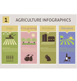Agriculture infographics vector image