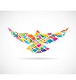 Bird abstract 2 vector image vector image