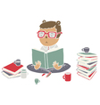 Read books vector image vector image