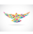 Bird abstract 2 vector image