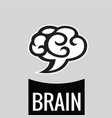 brain cloud logo template vector image