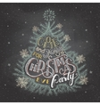 Christmas eve party invitation chalkboard vector image