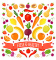 colorful vegetables and vector image