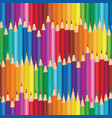 crayon background colorful pencil seamless pattern vector image