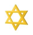 Gold jew star cartoon icon vector image
