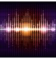 Orange and purple digital equalizer background vector image