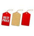Sale Tags Set vector image