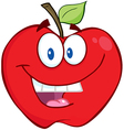 Smiling Apple Cartoon Character vector image