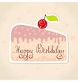 sticker cake vector image vector image