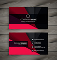 black and red business card vector image